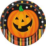 Smiling Pumpkin Round Dinner Plate