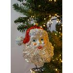 Kurt S. Adler Glass Santa Head Tree Decoration