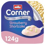 Muller Corner Strawberry Yoghurt with White Chocolate Shortcake Balls