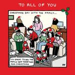Off the leash Family All Of You Christmas Card