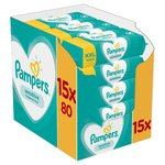 Pampers Sensitive Baby Wipes x 1200 15 x 80 per pack
