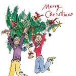 Quentin Blake Carrying Tree Christmas Card