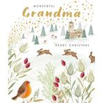 Grandma Bounding Joy Christmas Card