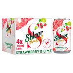 Shloer Pressed Strawberry & Lime Sparkling Juice Drink