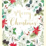 Festive Flowers Pack Of Christmas Cards