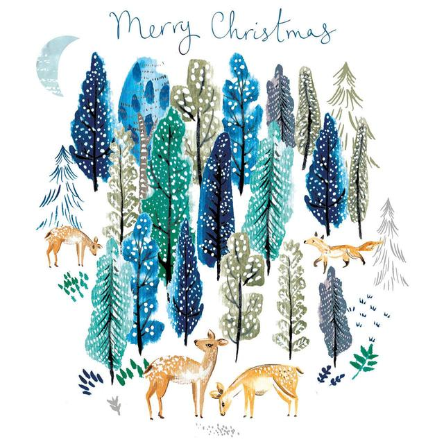 Fotos Cena Navidad Frinsa.Forest Friends Luxury Box Of Christmas Cards Ocado