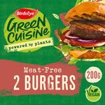 Birds Eye Green Cuisine 2 Meat Free Burgers Frozen