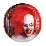 Horror Clown Paper Plates, 23cm