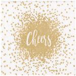 Gold Cheers Christmas Paper Napkin