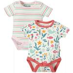 Frugi Organic 2 pack of Short Sleeve Bodysuits Mermaid