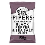 Pipers Karnataka Black Pepper & Sea Salt Crisps