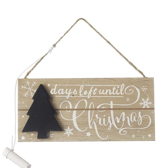 Days Till Christmas Chalkboard.Days Left Until Christmas Chalkboard Ocado
