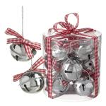 Red Check Ribbon Bell Tree Decorations