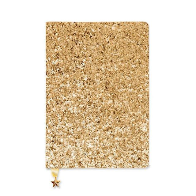 All That Glitters A5 Notebook - Sequin Gold