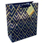 Waitrose Gold Glamour Geo Medium Bag