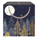 Sara Miller Winter Forest Santa Gift Bag, Medium
