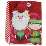 Santa & Elf Large Gift Bag