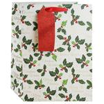 Gift Bag Christmas Holly Medium