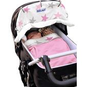 Dooky Pink Stars Universal Sunshade for Buggies, Strollers and Car Seats