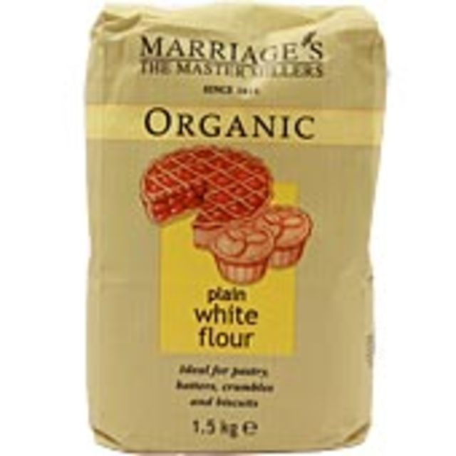 W & H Marriage Organic Plain White Flour