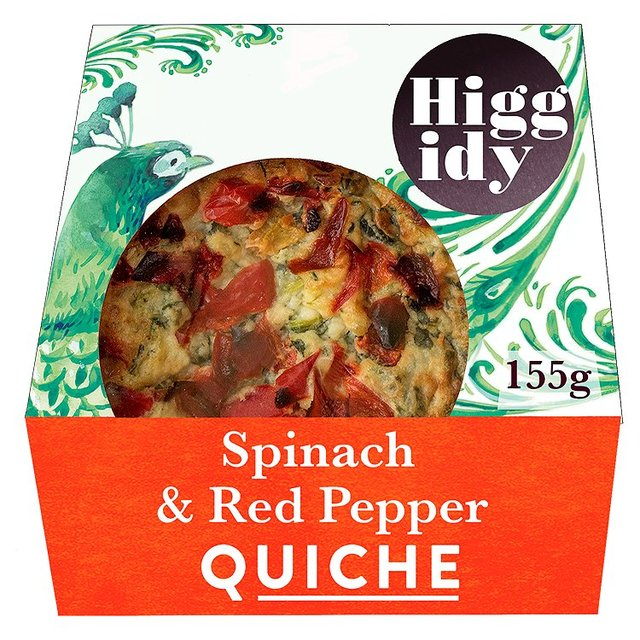 Higgidy Little Quiche Spinach & Red Pepper