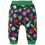 Frugi Organic Harem Style Parsnip Pants in Vegetable Design