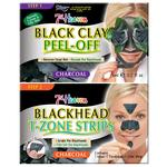 7th Heaven Black Clay Peel-Off Mask & Pore Strip Duo