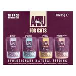 AATU Adult Cat Food Wet Pouches Mixed Case 10 x 85g