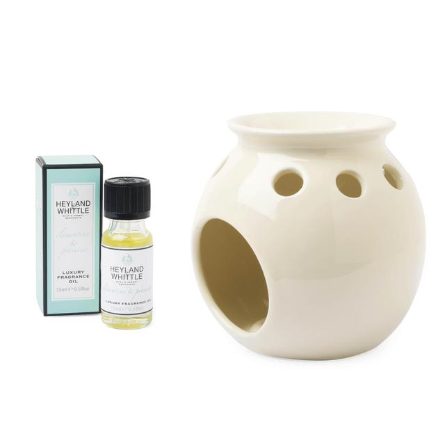 Heyland & Whittle Clementine & Prosecco Oil Burner Gift Set