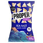 PROPERCHIPS Sea Salt Lentil tortilla chip