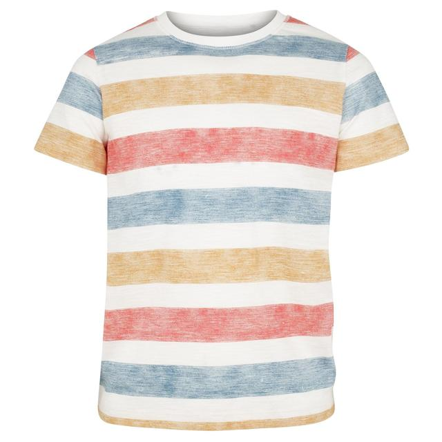 FatFace, Sunset Stripe Tee, Ecru