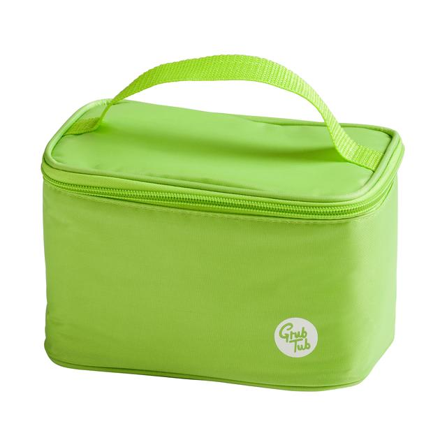 Grub Tub Lunch Box with 2 Containers, Cool Bag and Cutlery, Green