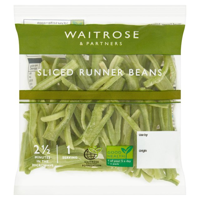 Waitrose Ready Sliced Runner Bean