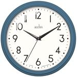 Acctim Elodie Retro Wall Clock, Oxford Blue