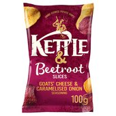 Kettle & More Goats' Cheese & Caramelised Onion with Beetroot crisps