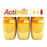 Actimel Fruit & Veg Cultured Shot Yellow Smoothie