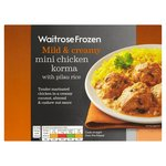 Waitrose Mini Chicken Korma With Pilau Rice Frozen