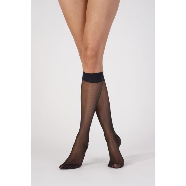 2d70a6bd5 Aristoc Ultra Shine 10 Denier Knee Highs, Black, One Size 3 per pack