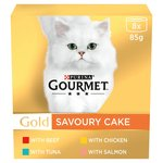 Gourmet Gold Cat Food Savoury Cake Meat & Fish