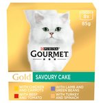 Gourmet Gold Cat Food Savoury Cake Meat & Veg