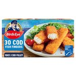 Birds Eye 30 Cod Fish Fingers Frozen