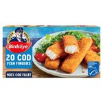 Birds Eye 20 Cod Fish Fingers Frozen