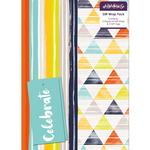 Abacus Stripe/ Diamond Mix Gift Wrap Pack