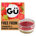 Gu Free From Strawberry & Rhubarb Cheesecakes