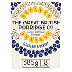 The Great British Porridge Co Blueberry & Banana Instant Porridge