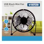 "Status 4"" USB Mini Fan - Black - Metal"