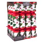 Traditional Holly White Christmas Crackers