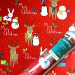 Festive Friends Matte Christmas Gift Wrap Sheets