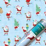 Christmas Time Santa Gift Wrap Sheets
