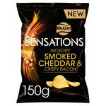Sensations Hickory Smoked Cheddar & Crispy Bacon Crisps